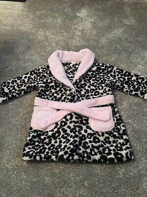 Girls Aninal Print Dressing Gown 6-12 Months