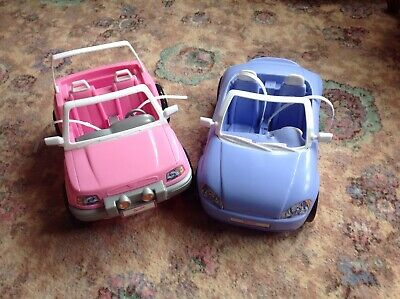 Barbie Cars 2 Vintage, 1 Pink,1 Blue