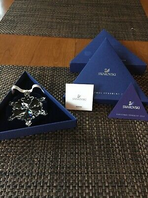 Swarovski Crystal 2012 Annual Snowflake Ornament Holiday Season Gift Christmas