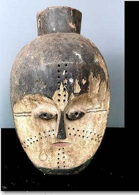 Old Tribal Large Fang 2 Headed Helmet  Mask   --   Gabon BN 57