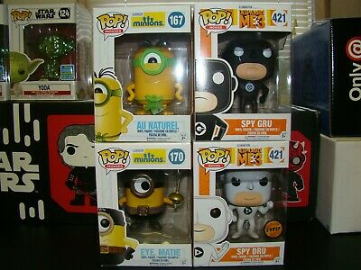 Funko Pop Despicable Me And Minions Lot Of 4 With Chase-Vhtf-