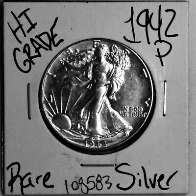 1942 Walking Liberty Silver Half Dollar #108583 HIGH Grade Rare US Free Shipping