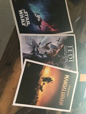 DISNEY STORE STAR WARS RISE OF SKYWALKER LITHOGRAPH TRIPLE FORCE FRIDAY POSTERs