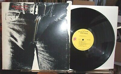 The Rolling Stones - Sticky Fingers 1971 US 1st Pressing Zipper Cover VG VINYL