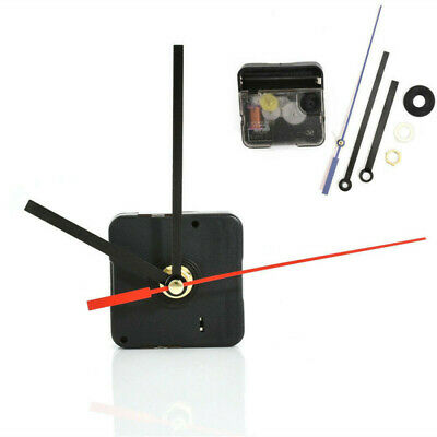 DIY Replacement Part Set Clock Quartz Movement Mechanism Red and Black Hands