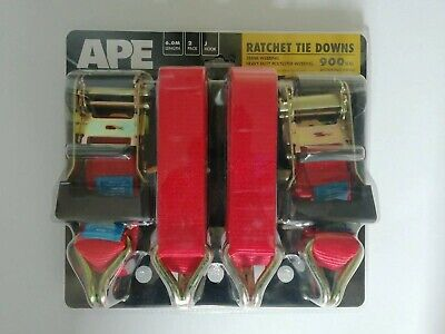 Ape Ratchet Tie-Downs 900 Kg Working Load 2 pack