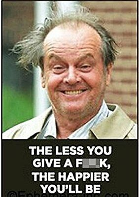The Less You Give A F++k funny fridge magnet ep Jack Nicholson