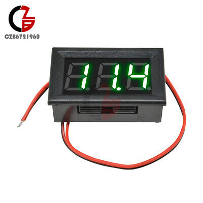 "AC 70-500V Voltmeter 0.56"" Inch Mini Digital Green LED Voltage Panel Volt Meter"