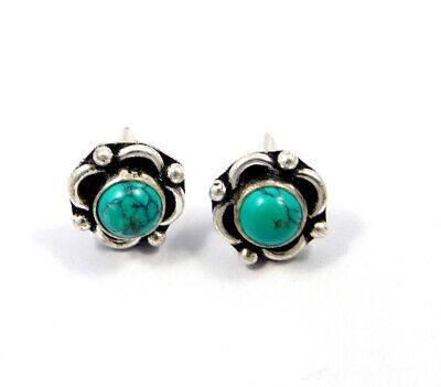 Turquoise .925 Silver Plated Handmade Stud Earring Jewelry JC8150
