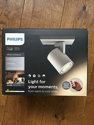 New Philips Hue White Ambiance Runner Led Single Spotlight White
