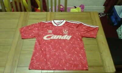 Original Liverpool Home Shirt 1989-91 Size Large 42-44 Candy