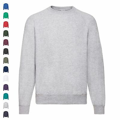 Fruit of the Loom Basic Raglan Sweatshirt Sweat Pullover Herren Damen Unisex