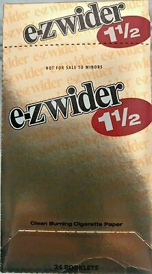 EZ-WIDER Gold 1.5 Cigarette Tobacco Rolling Papers 24 Booklet Free ship