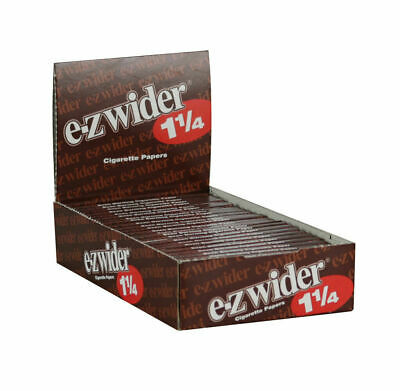 EZ-WIDER Brown 1.25 1 1/4 Cigarette Tobacco Rolling Papers 24 Booklet Free ship