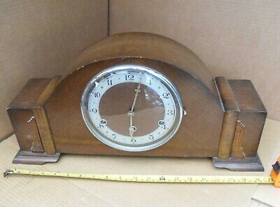 Vintage Perivale Bentima 5 Chime Tune Mantelpiece Clock Brass Movement Pendulum