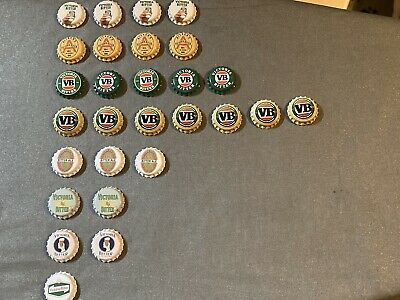 VB Victoria Bitter Bottle Cap Fridge Magnet Collectables X 28 FREE SHIPPING