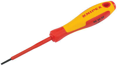 Knipex VDE Insulated Screwdriver Choice of Sizes of Slotted Allen Phillips Pozi