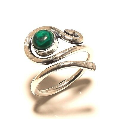 Malachite Silver Plated Free Shipping Ring Jewelry