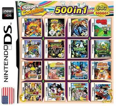 500 in 1 Video Game Cartridge Console Card US For Nintendo NDS 2DS 3DS NDSL NDSI