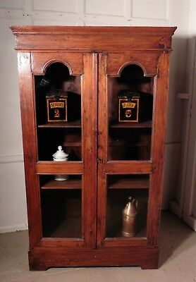 Glazed Country Elm Cupboard, Shop Display.