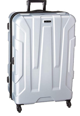 """Samsonite Centric Expandable Hardside Luggage with Spinner Wheels, 28"""" SILVER"""