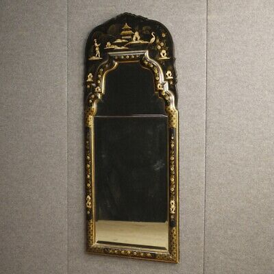 Mirror French Furniture Lacquered a Chinoiserie Painting Antique Style 900