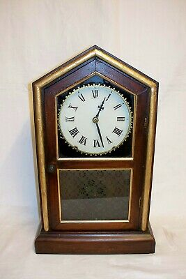 Victorian American Newhaven 8 Day Chiming mantle clock
