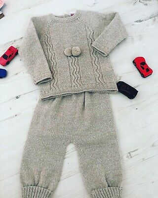 baby knitted two piece Set