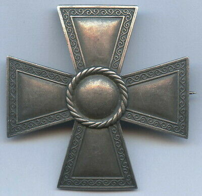 Sweden Silver Badge Masonic Cross 1943 Brooch Nice Grade !!!