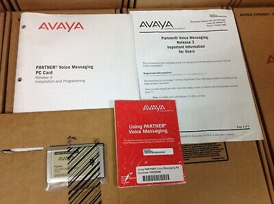 Avaya Partner Voice Messaging VoiceMail Small PC Card CWD3B 700226517, NEW