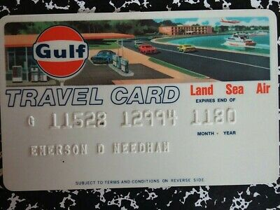 Gulf Travel Card Credit Card 1980 Collectible Land Sea Air