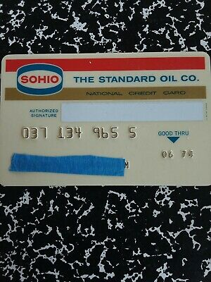 Standard Oil SOHIO NationalCredit Card 1974 Vintage Collectible