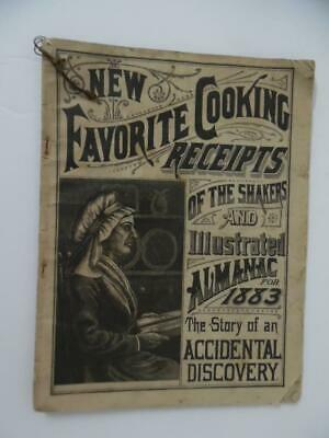 1883 Shaker Almanac Cook Book Quack Patent Medicine Advertising Lilly Langtry