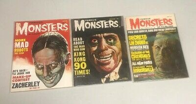 Famous Monsters Of Filmland Set Of 3: 15, 20, 31