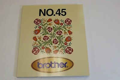 EMBROIDERY CARD No 45 Flowers Borders Bernina Deco Babylock Brother .pes