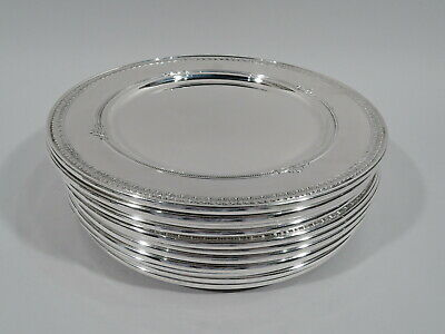 Gorham Shamrock Plates - 41521 - Dinner Chargers - American Sterling Silver