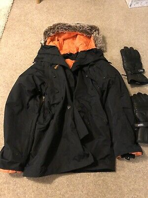 Armadillo Warm Waterproof Scooter Moped Parka Jacket With Armour Size M Ladies