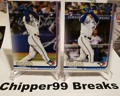 "Cavan Biggio RC Lot of 2 2019 Topps UPDATE #US39 & US295 ""TRUE"" Rookie Card 🔥"