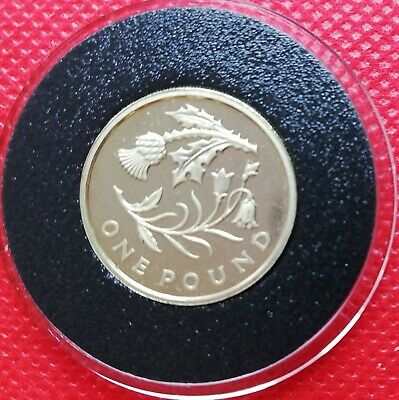 2014 Floral Emblem Of Scotland 1 pound Coin free coin capsule with insert