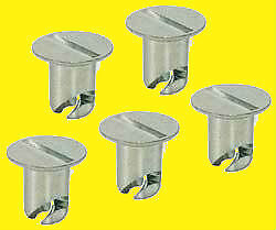 Quick Turn Oval Head Button Buttons 7//16 .500in 5 pk Aluminum Dzus Oversized
