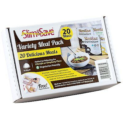 20 Popular Slim & Save Meals - High Protein Low Carb Meal Replacement VLCD Meals