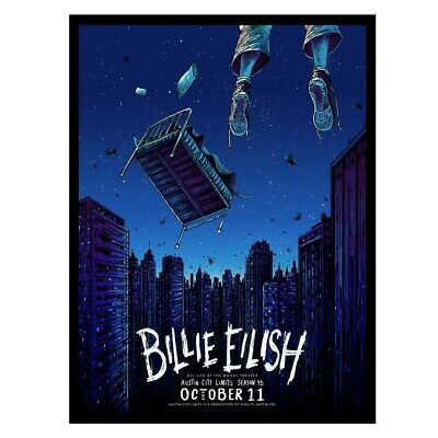 Billie Eilish Austin City Limits Moody Theater October 11, 2019 Poster Limited