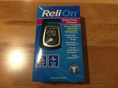 ReliOn State Of The Art Technology Comfortable Deluxe Accurate Pulse Oximeter