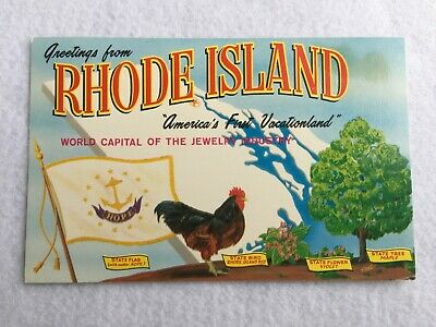 Greetings from Rhode Island, America's First Vacation land  Vintage Postcard