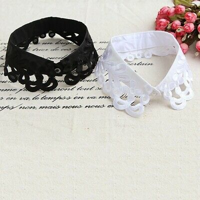 US Women Fake Collar Detachable Peter Pan Lapel Neck Collar Choker Tie Fashion