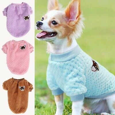 Pet Dog Knit Sweater Embroidery Chihuahua Clothes Puppy Cat Jumper Winter Warmer