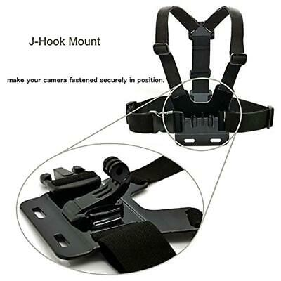2PCS J-Hook Head Chest Mount Strap GoPro Hero 1 2 3 Camera Accessories Set Kit r