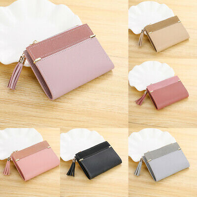 Hot Sell Women Fashion Short Purse Leather Wallet with Zip Card And Coin Holder