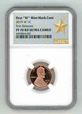 2019 W Lincoln Penny 1C Mint Mark Cent Ngc Pf 70 Rd First Releases 4959844-002