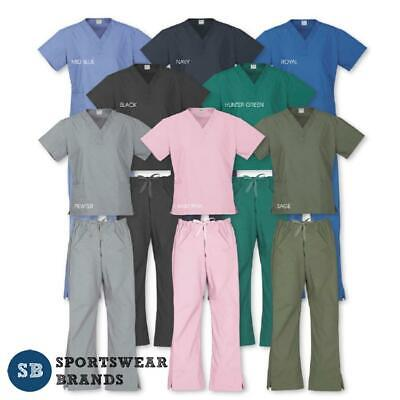 Ladies Top Pants Scrubs Set Nurse Doctor Medical Uniform Vet Dentist Healthcare